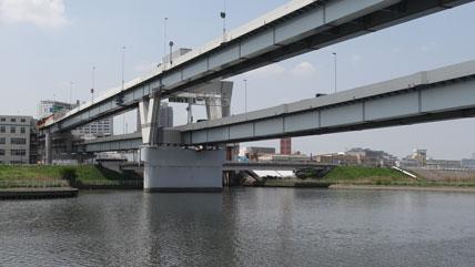 東京の橋:首都高速新荒川橋